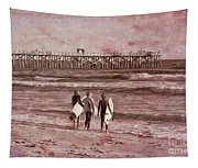 Surfers Three Tapestry