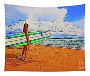 Surfing 19518 Tapestry