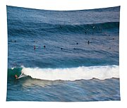Surfing At Honolua Bay Tapestry