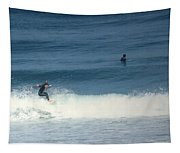 Surfing Carmel Beach Two Tapestry