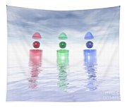 Surreal Glass Structures Tapestry