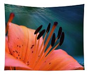 Surreal Orange Lily Tapestry