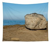 Surreal Rock At Point Loma Tapestry