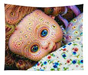 Surreal Trippy Deep Dream Doll Tapestry