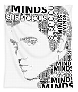 Suspicious Minds Elvis Wordart Tapestry