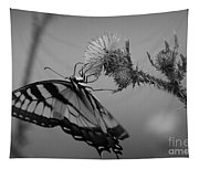 Swallowtail Black And White Tapestry