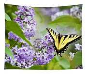 Swallowtail Butterfly On Lilacs Tapestry