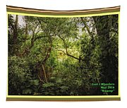 Swamp L A With Decorative Ornate Printed Frame. Tapestry