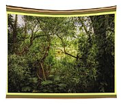 Swamp L B With Decorative Ornate Printed Frame. Tapestry
