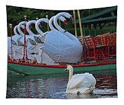 Swan Meeting Up With Some Friends Tapestry