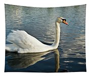 Swan On The Run Tapestry