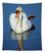 Swan Reflection Tapestry