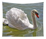 Swan Swimming By Tapestry