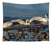 Swan Wings Reach Tapestry
