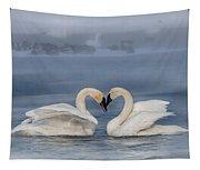 Swan Valentine - Blue Tapestry