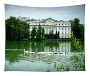 Swans On Austrian Lake Tapestry