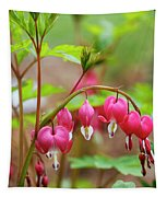 Sweet Bleeding Heart Tapestry