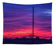 Sweet Nebraska Sunset 004 Tapestry