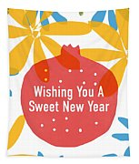 Sweet New Year Card- Art By Linda Woods Tapestry