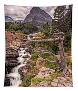 Swiftcurrent Lake Falls Tapestry