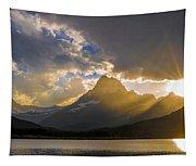 Swiftcurrent Lake Sundown Glacier N P Tapestry