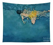 Swimmer In Yellow Tapestry