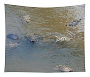 Swimming Turtles Tapestry