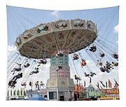 Swing Carousel At County Fair Tapestry