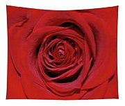 Swirling Red Silk Tapestry