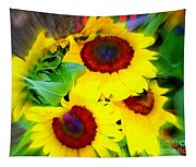Swirling Sunflowers Tapestry