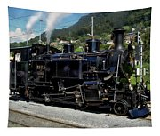 Swiss Steam Locomotive Tapestry