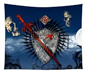 Sword And Shield Tapestry