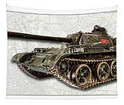 T-54 Soviet Tank W-bg Tapestry