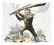 T. Roosevelt Cartoon, 1904 Tapestry