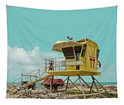 T7 Lifeguard Station Kapukaulua Beach Paia Maui Hawaii Tapestry