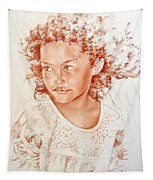 Tahitian Girl Tapestry