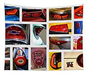 Tail Light Collage Number 1 Tapestry
