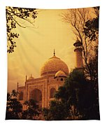 Taj Mahal Sunset Tapestry