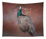 Take Time For You - Peacock Art Tapestry