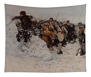 Taking A Snow Town Tapestry