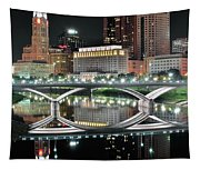 Tall Columbus Reflection Tapestry