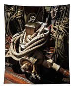 Tall Ship Details Tapestry