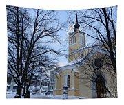 Tallin Church In Winter Tapestry
