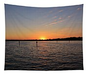 Tampa Bay Sunset Tapestry