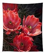 Tangerine Cactus Flower Tapestry