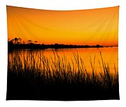 Tangerine Sunset Tapestry