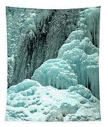 Tangle Falls Frozen Blue Cascades Tapestry