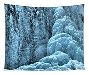 Tangle Falls Frozen In Blue Tapestry