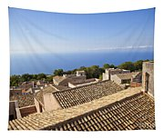Taormina Rooftops Tapestry