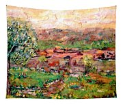 Taos By The River Tapestry